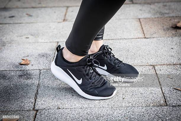 Alicia wears Nike trainers and Calzedonia tousers on January 22 2017 in Madrid Spain