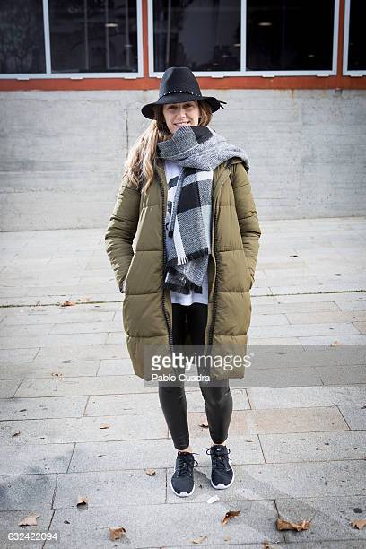 Alicia wears Nike trainers Calzedonia tousers and Zara bag on January 22 2017 in Madrid Spain