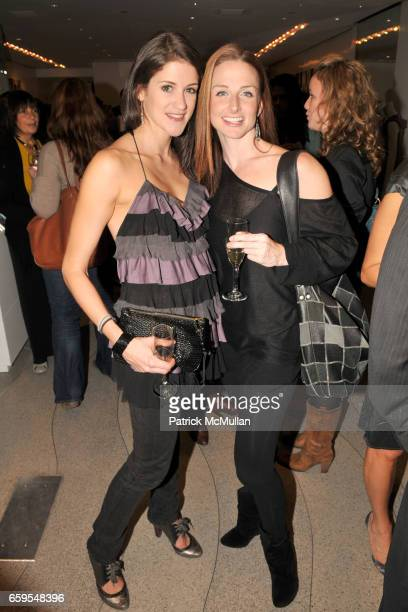 Alicia Weihl and Karen Keeler attend PHYSIQUE 57 DVD Launch Party at Calypso St Barth Flagship Store on October 14 2009 in New York City