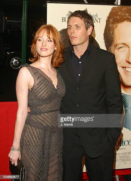 Alicia Witt and boyfriend during Two Weeks Notice Premiere Arrivals at The Ziegfeld Theatre in New York City New York United States