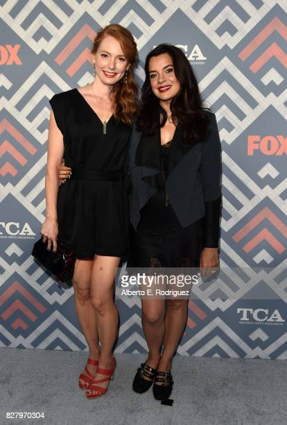 Alicia Witt and Zuleikha Robinson attend the FOX 2017 Summer TCA Tour after party on August 8 2017 in West Hollywood California