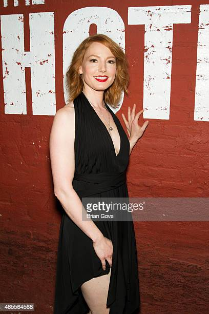 Alicia Witt arrives for her album release show for 'Revisionary History' at The Hotel Cafe on March 7 2015 in Hollywood California