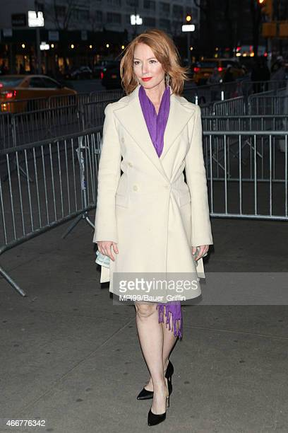 Alicia Witt arriving to the Danny Collins film premiere on March 18 2015 in New York City