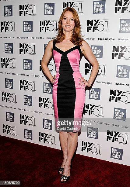 Alicia Witt attends the 'About Time' premiere during the 51st New York Film Festival at Alice Tully Hall at Lincoln Center on October 1 2013 in New...