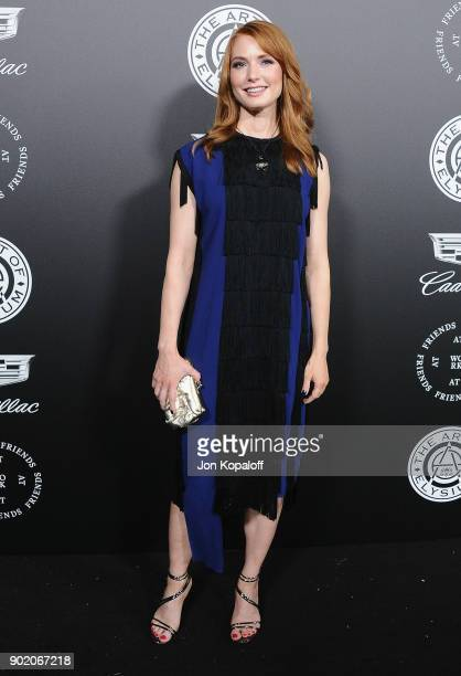 Alicia Witt attends The Art Of Elysium's 11th Annual Celebration Heaven at Barker Hangar on January 6 2018 in Santa Monica California