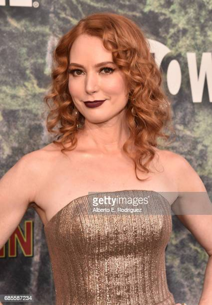 Alicia Witt attends the premiere of Showtime's 'Twin Peaks' at The Theatre at Ace Hotel on May 19 2017 in Los Angeles California