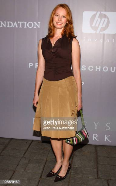 Alicia Witt during Barneys New York Hosts Proenza Schouler Fashion Show to Benefit the Rape Foundation CoSponsored by HewlettPackard Arrivals at...