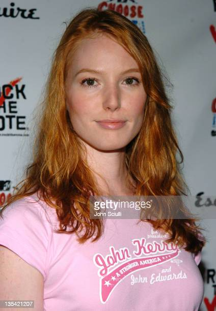 Alicia Witt during Esquire House Hosts Young Hollywood 'Rock The Vote' Party Arrivals at The Esquire House Los Angeles in Beverly Hills California...