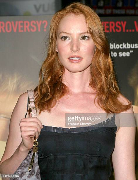 Alicia Witt during 'Fahrenheit 9/11' London Screening Arrivals at Warner West End in London Great Britain
