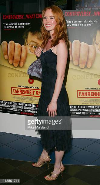 Alicia Witt during Fahrenheit 9/11 London Screening Arrivals at Warner West End in London Great Britain