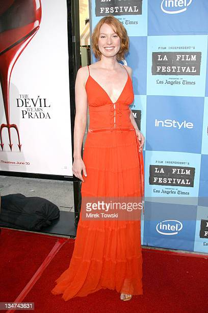 Alicia Witt during Film Independent's Los Angeles Film Festival Opening Night 'The Devil Wears Prada' at Mann Village Theatre in Westwood California...