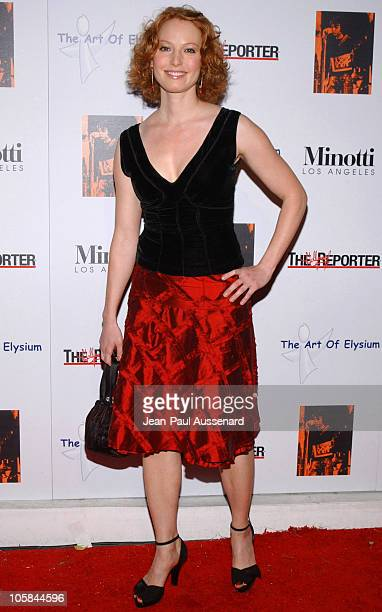 Alicia Witt during Kirsten Dunst Hosts The Art of Elysium Annual Art Benefit Arrivals and Inside at Minotti in Los Angeles California United States