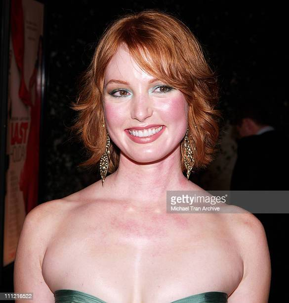 Alicia Witt during 'Last Holiday' Los Angeles Premiere Arrivals at Cinerama Dome in Hollywood California United States