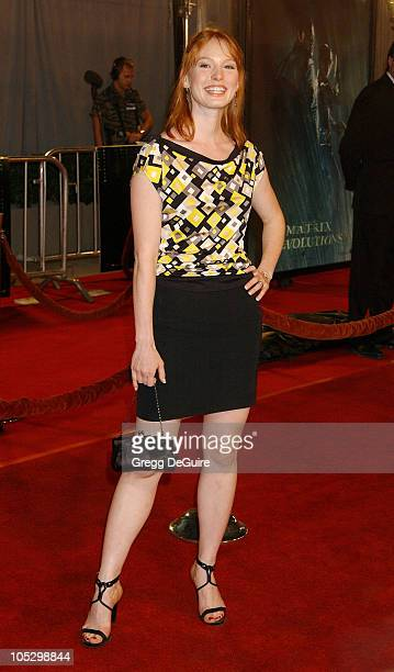 Alicia Witt during 'The Matrix Revolutions' Premiere at Disney Concert Hall in Los Angeles California United States