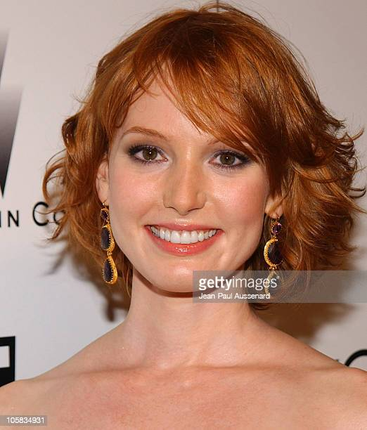 Alicia Witt during The Weinstein Co/Glamour 2006 Golden Globe After Party Arrivals at Trader Vic's in Beverly Hills California United States