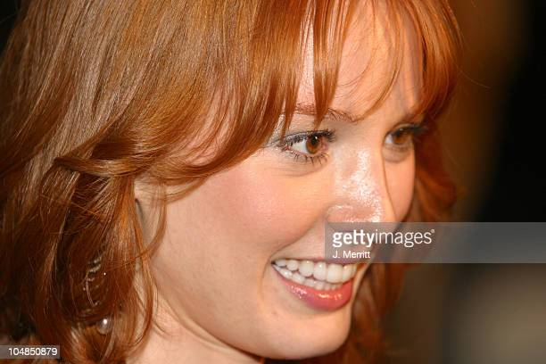 Alicia Witt during Two Weeks Notice Premiere Arrivals at The Ziegfeld Theatre in New York City New York United States