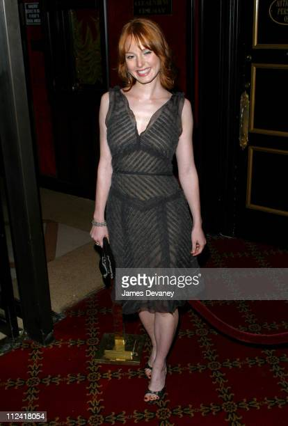 Alicia Witt during 'Two Weeks Notice' Premiere New York at The Ziegfeld in New York City New York United States