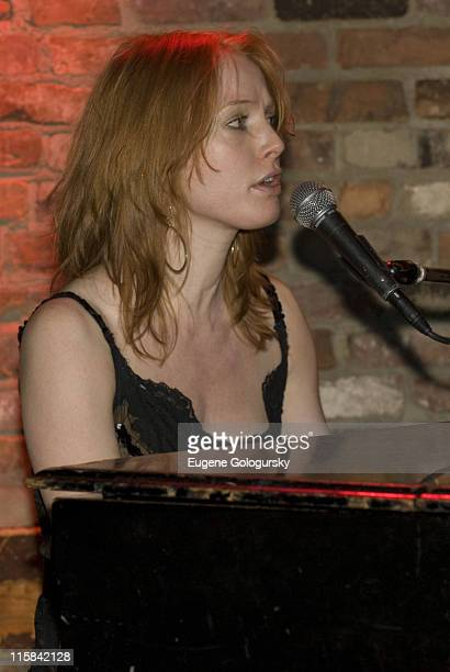Alicia Witt performs at The Bitter End on December 18 2007 in New York City