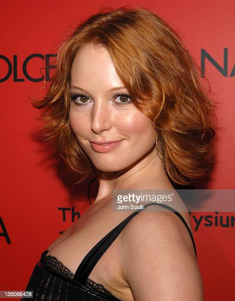 Alicia Witt wearing Dolce Gabbana during Dolce Gabbana and Penelope Cruz Announce Their Charity Auction to Benefit The Art of Elysium Arrivals at...