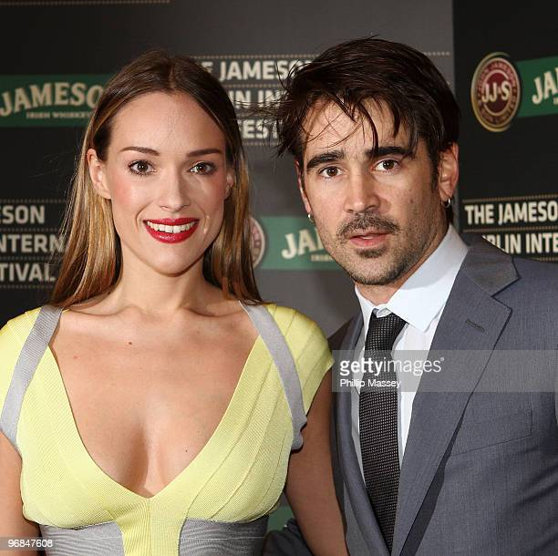 Alicja Bachleda and Colin Farrell leave the Dublin premiere of Ondine as part of the Jameson Dublin International Film Festival on February 18 2010...