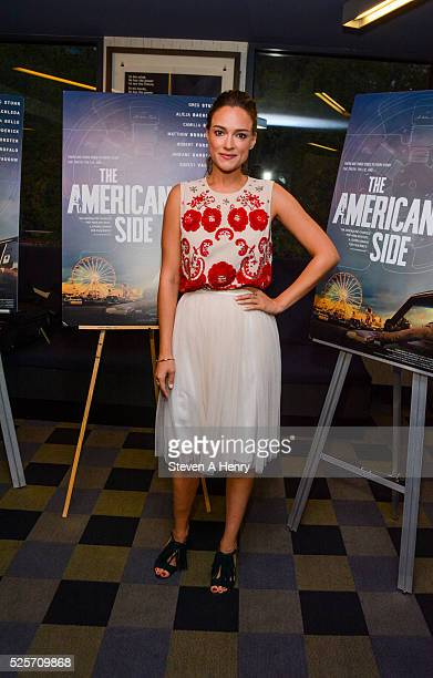 Alicja Bachleda attends The American Side Screening at IFC Center on April 28 2016 in New York City