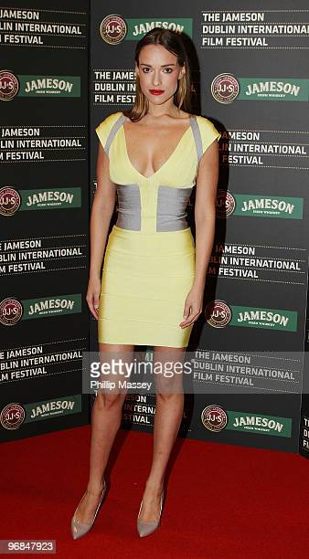 Alicja Bachleda attends the Dublin premiere of Ondine as part of the Jameson Dublin International Film Festival on February 18 2010 in Dublin Ireland
