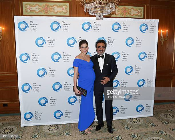Alida Boer and Founder/CEO of Chobani and event honoree Hamdi Ulukaya attend The 2015 American Turkish Society Gala held at The Pierre Hotel on...