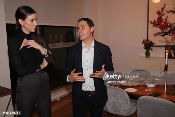 Alida Boer and Gabriel Rivera-Barraza attend the Marias By Alida Boer Cocktail Reception on January 22, 2020 in New York City.