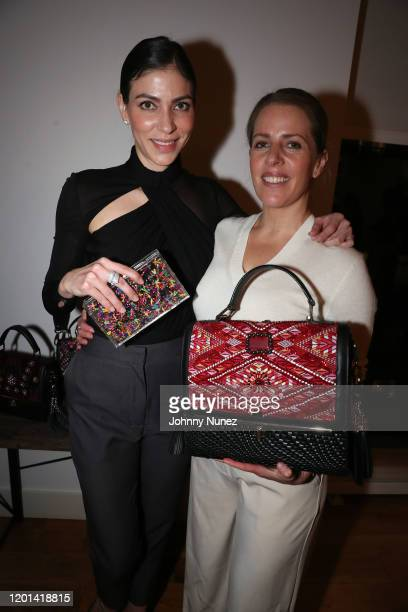Alida Boer and Mayeli Chavez-Geller attend the Marias By Alida Boer Cocktail Reception on January 22, 2020 in New York City.