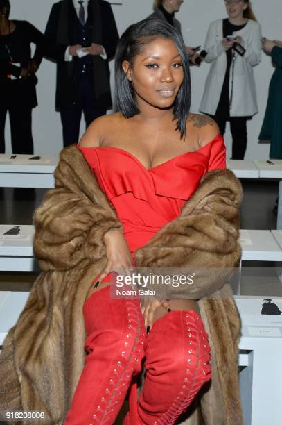 Alieah McGraw attends the All Comes From Nothing x COOME FW18 show at Gallery II at Spring Studios on February 14 2018 in New York City