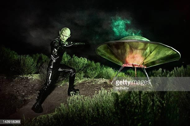 Alien and UFO Spaceship Landing