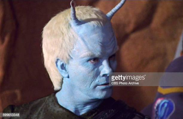 Alien Andorian Commander Shran in STAR TREK ENTERPRISE episode The Andorian Incident originally broadcast October 31 2001 Season 1 episode 17 Image...