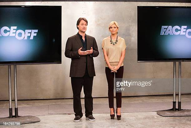 """Alien Apocalypse"""" Episode 410 -- Pictured: Kevin Murphy, McKenzie Westmore --"""