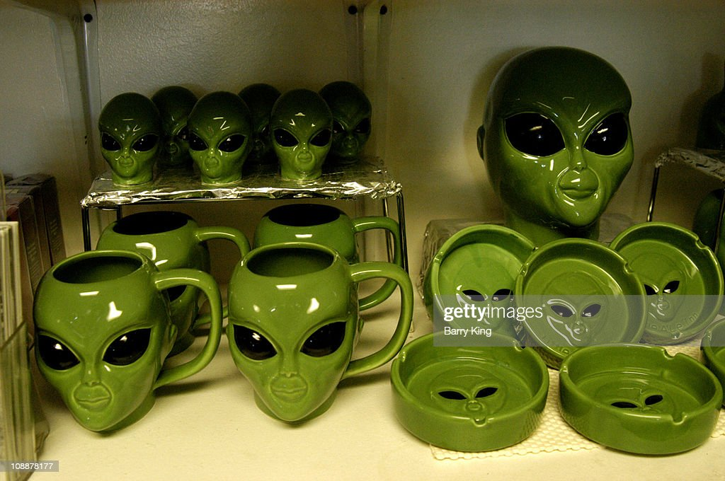 UFO & Alien Gift Shop at Little Aleinn on the Exraterrestrial Highway (Highway 375) where Area 51 (Groom Lake, Dreamland) is located in Rachel, Nevada