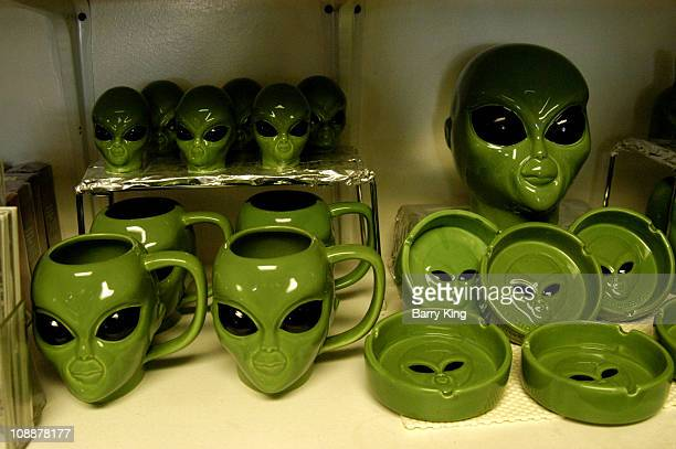 UFO Alien Gift Shop at Little Aleinn on the Exraterrestrial Highway where Area 51 is located in Rachel Nevada
