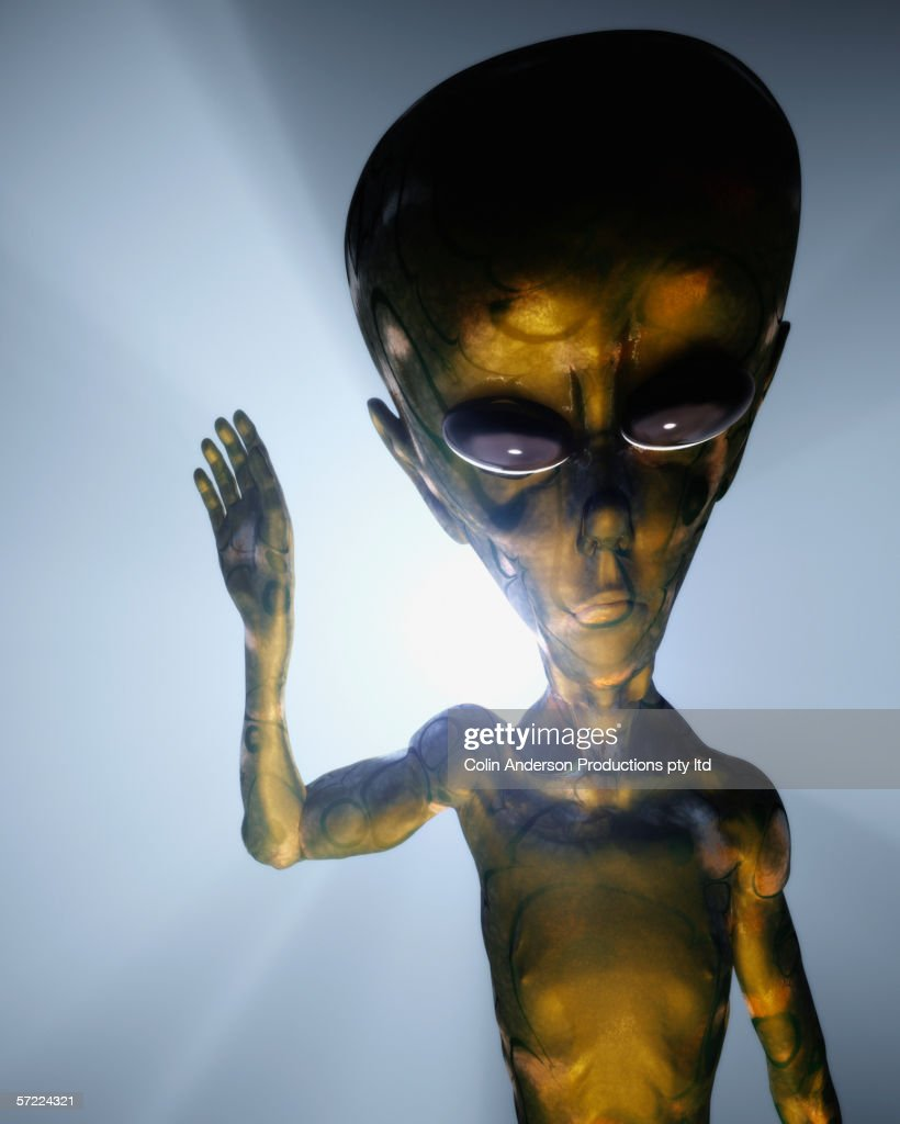 Alien making contact : Stock Photo