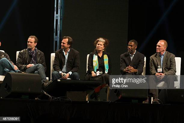 Aliens actors Michael Biehn Bill Paxton Jenette Goldstein Ricco Ross and Mark Rolston reunite together to celebrate their iconic film Aliens at the...