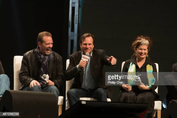 Aliens actors Michaerl Biehn Bill Paxton and Jenette Goldstein reunite together to celebrate their iconic film Aliens at the panel discussion Aliens...