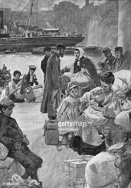 Aliens Arriving at Irongate Stairs' circa 1901 Jewish immigrants arriving in London Irongate Stairs was a set of stairs up from the River Thames at...
