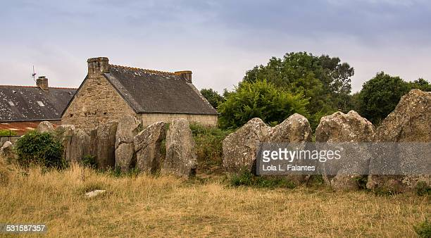 Alignments of stones and houses