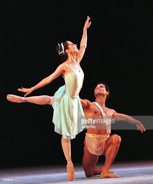 Alihaydee Carreno and Jose Manuel Carreno dance Diana and Acteon October 20 2000 during the 17th Havana International Festival of Ballet at the Grand...