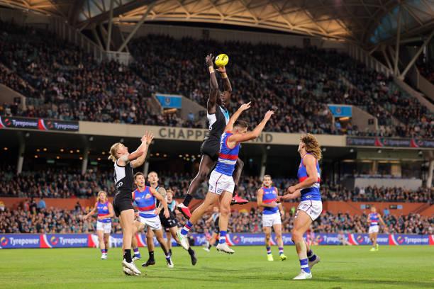 AUS: AFL Rd 9 - Port Adelaide v Western Bulldogs