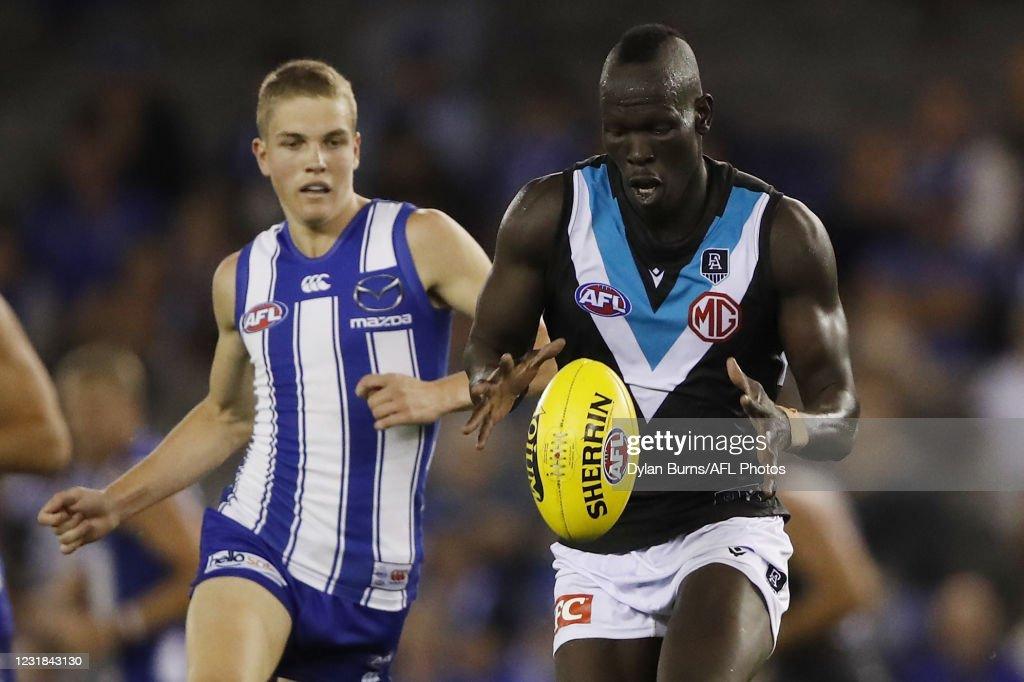 AFL Rd 1 - North Melbourne v Port Adelaide : News Photo