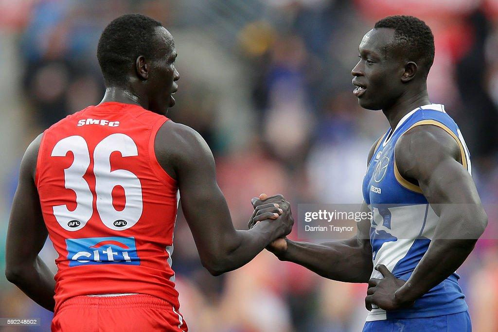 AFL Rd 22 - North Melbourne v Sydney : News Photo