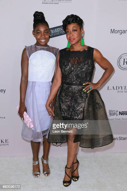Alijah Kai Haggins and Actress Tichina Arnold attends the Ladylike Foundation's 9th Annual Women Of Excellence Awards Gala at The Beverly Hilton...