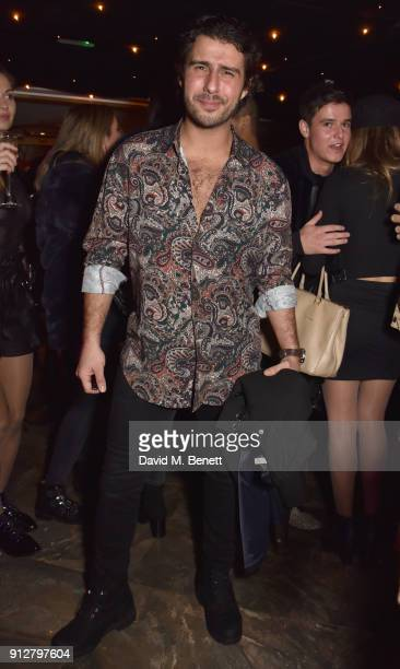 Alik Alfus attends Bunga Bunga Covent Garden's 1st birthday party on January 31 2018 in London England