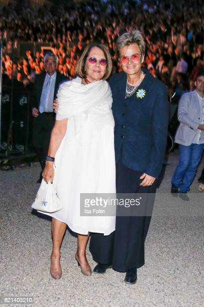 Aliki Goulandris and Gloria von Thurn und Taxis during the Jose Carreras concert at Thurn Taxis Castle Festival 2017 on July 23 2017 in Regensburg...