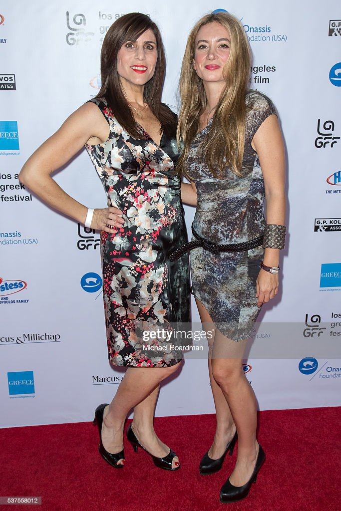 Aliki Theofilopoulos and singer/songwriter Athena Andreadis attends the 10th Annual Los Angeles Greek Film Festival opening night gala at the Egyptian Theatre on June 01, 2016 in Hollywood, California.