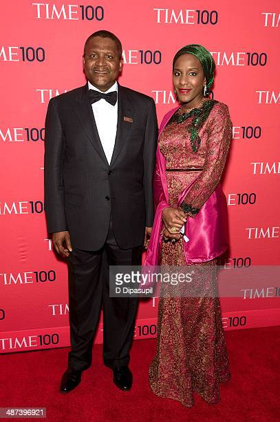 Aliko Dangote and Halima Dangote attend the 2014 Time 100 Gala at Frederick P Rose Hall Jazz at Lincoln Center on April 29 2014 in New York City