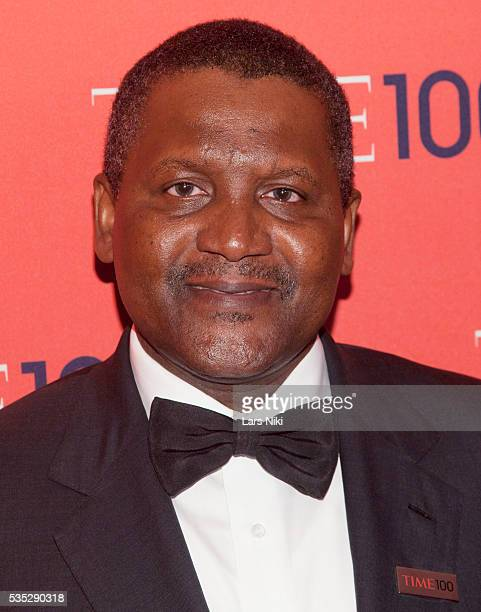 Aliko Dangote attends the TIME 100 Gala TIME's 100 Most Influential People In The World at the Frederick P Rose Hall at Lincoln Center in New York...
